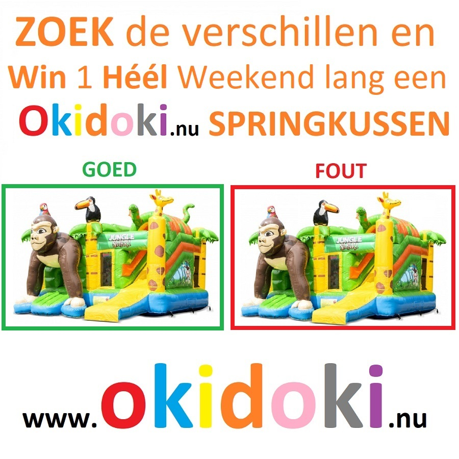 Like tag en Win 1 heel weekend lang 1 springkussen